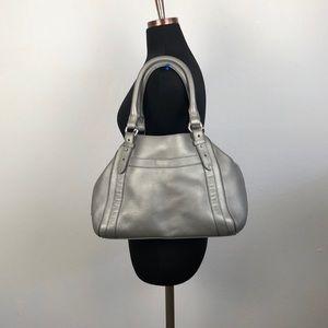 Cole Haan Silver Gray Satchel Bag